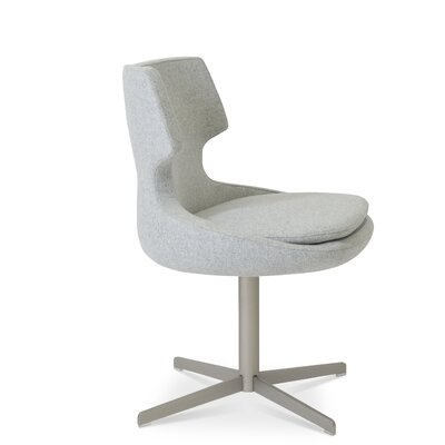 Patara Upholstered Dining Chair Color: Silver