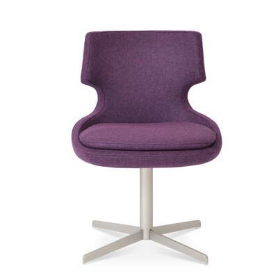 Patara Upholstered Dining Chair Color: Deep Maroon