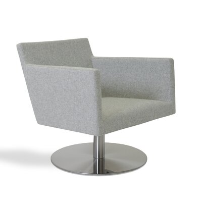 Harput Swivel Lounge Arm Chair Upholstery: Silver