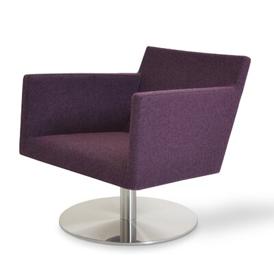 Harput Swivel Lounge Arm Chair Upholstery: Deep Maroon