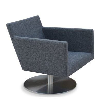 Harput Swivel Lounge Arm Chair Upholstery: Dark Gray