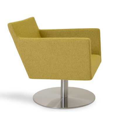 Harput Swivel Lounge Arm Chair Upholstery: Amber