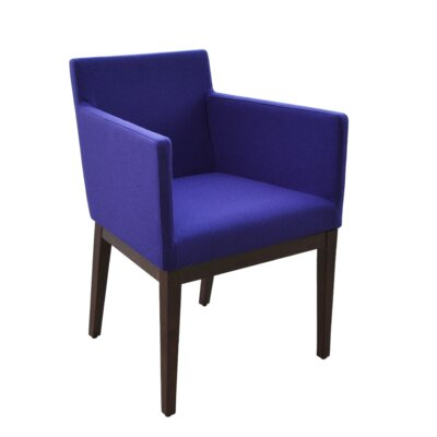 Harput Arm Chair Frame Finish: Wenge, Upholstery Finish: Royal Blue