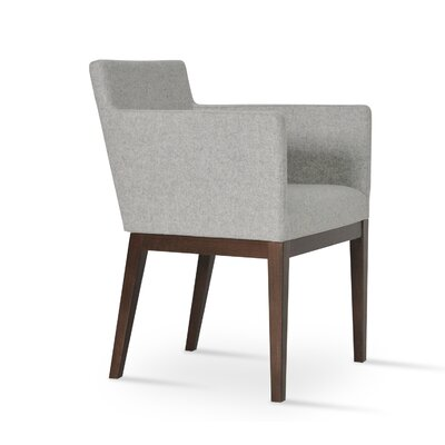 Harput Arm Chair Frame Finish: Wenge, Upholstery Finish: Silver