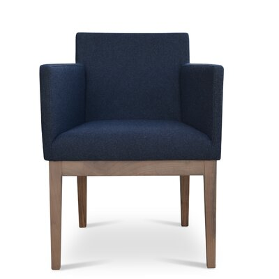 Harput Armchair Frame Finish: Walnut, Upholstery: Charcoal