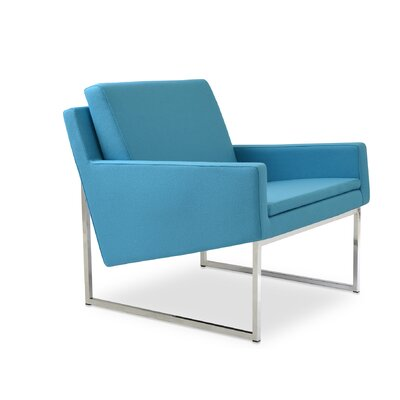 Nova Sled Lounge Chair Upholstery: Silver