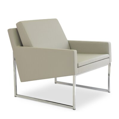 Nova Sled Lounge Chair Upholstery: Light Grey