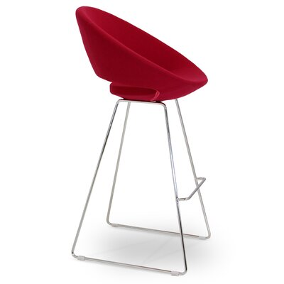 Crescent 29 inch Bar Stool Upholstery: Red Wool