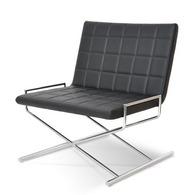 Chelsea X Sled Chair Upholstery: Black