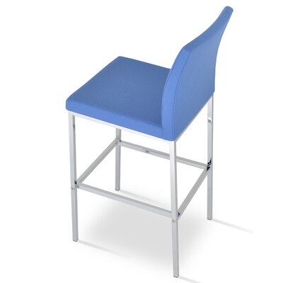 Aria 29 Bar Stool Upholstery: Wool-Sky Blue