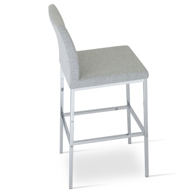 Aria 29 Bar Stool Upholstery: Camira Wool-Silver