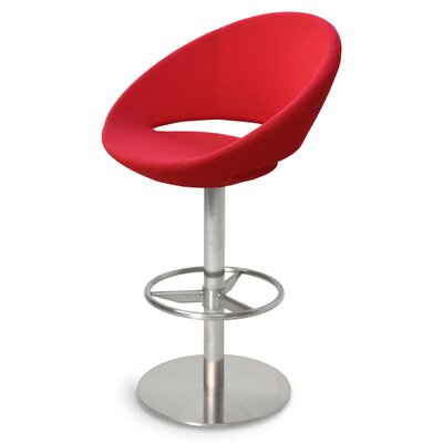 Crescent 29 Swivel Bar Stool Upholstery: Bone PPM Leatherette
