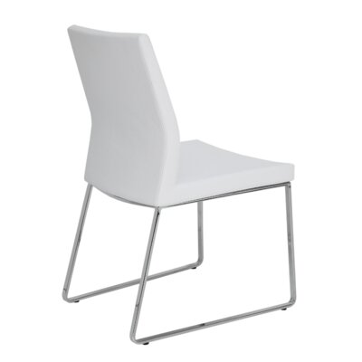 Pasha Slide Upholstered Dining Chair Color: Leatherette White