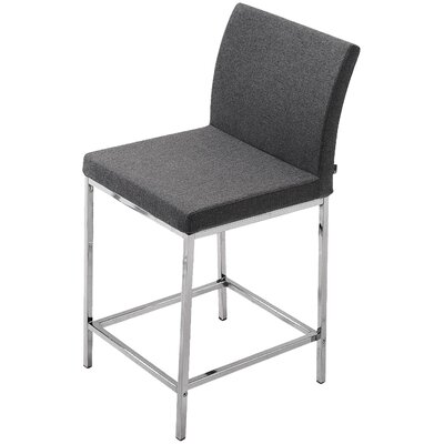 Aria 24 Bar Stool Upholstery: Wool-Charcoal