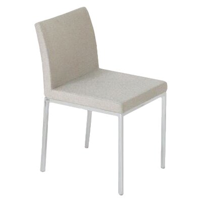 Aria Parsons Chair Upholstery: Leatherette - Cream