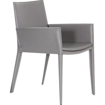 Tiffany Leather Armchair Upholstery: Grey
