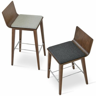 Corona 25 Bar Stool Upholstery: Dark gray