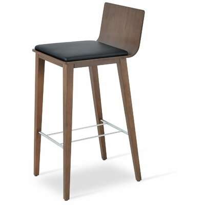 Corona 30 Bar Stool Upholstery: Black