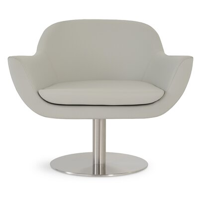 Madison Swivel Armchair Upholstery: Light Gray