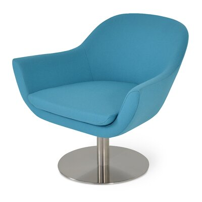Madison Swivel Lounge Chair Upholstery: Turquoise