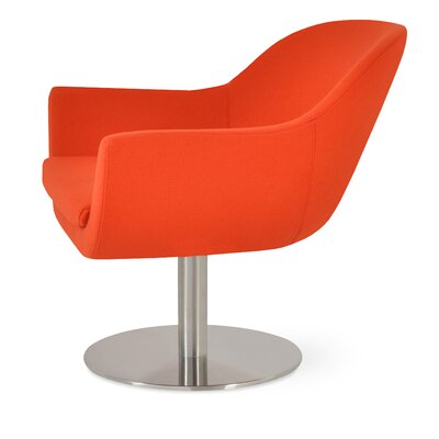 Madison Swivel Lounge Chair Upholstery: Orange