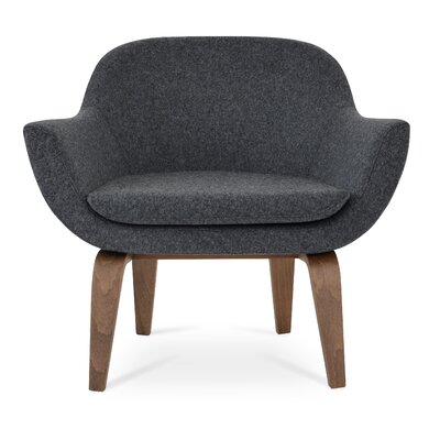 Madison Plywood Armchair Upholstery: Dark Gray