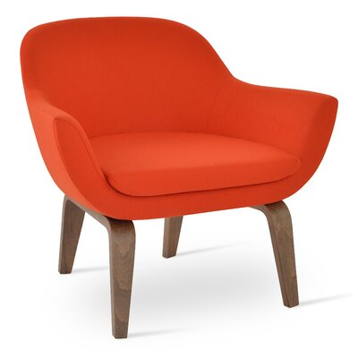 Madison Plywood Armchair Upholstery: Orange