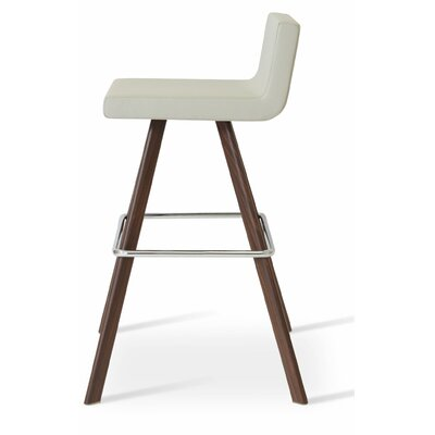 Dallas 29 Bar Stool Leg Color: Bar/Walnut
