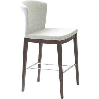 Capri 24 Bar Stool Upholstery: Italian PPM - Bone