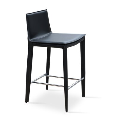 Tiffany 24 Bar Stool Upholstery: Black