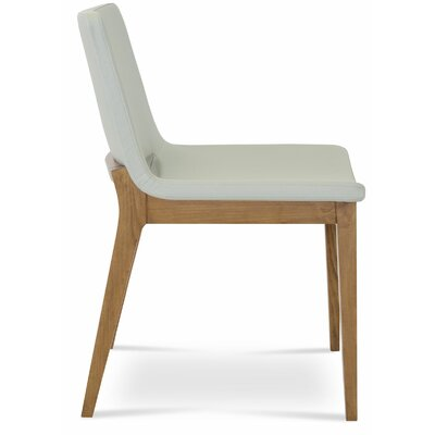Nevada Wood Side Chair Upholstery: Camira Wool - Silver
