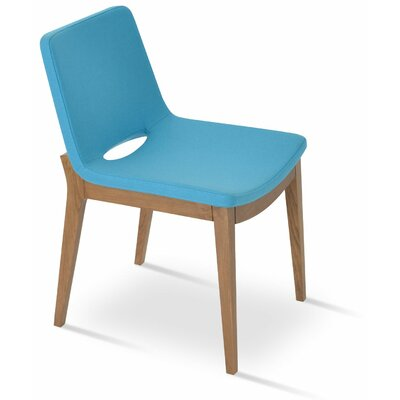 Nevada Wood Upholstered Dining Chair Color: Turquoise