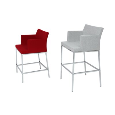 Soho 29 Bar Stool Seat Color: Black