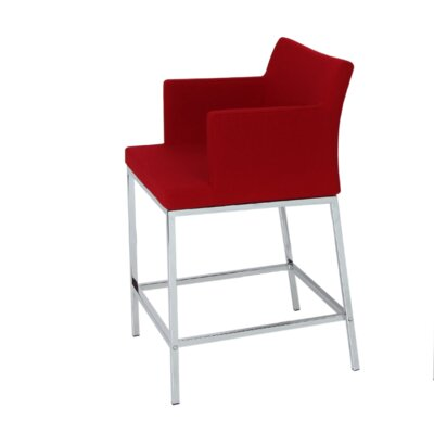 Soho 24.5 Bar Stool Upholstery: Leatherette-Cream