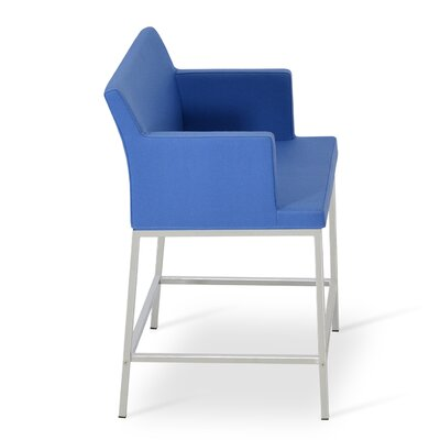Soho 24.5 Bar Stool Upholstery: Wool-Sky Blue