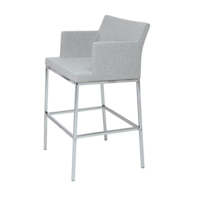 Soho 30 Bar Stool Upholstery: Cotton-Gray Brick