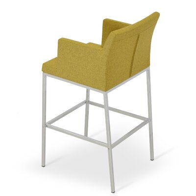 Soho 30 Bar Stool Upholstery: Camira Wool-Amber