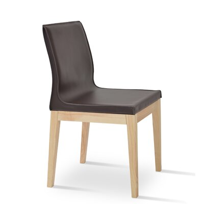 Polo Side Chair Finish: Natural Ash, Upholstery: Light Brown