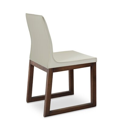 Polo Side Chair Upholstery: Brown