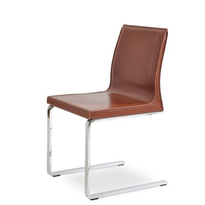 Polo Side Chair Upholstery: Light Brown