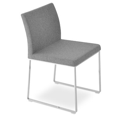 Aria Side Chair Upholstery: Camira Wool - Silver