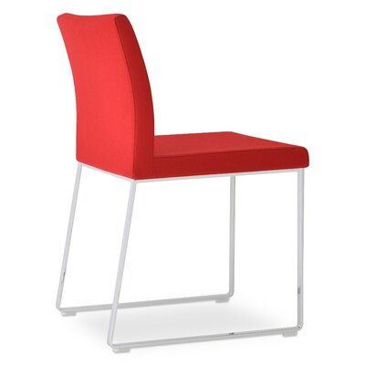 Aria Upholstered Dining Chair Color: Red