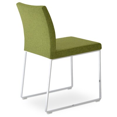 Aria Upholstered Dining Chair Color: Forest Green