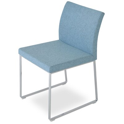 Aria Side Chair Upholstery: Camira Wool - Turquoise