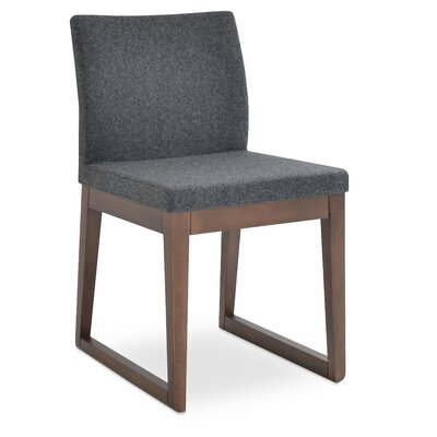 Aria Side Chair Upholstery: Fabric - Black Pepper