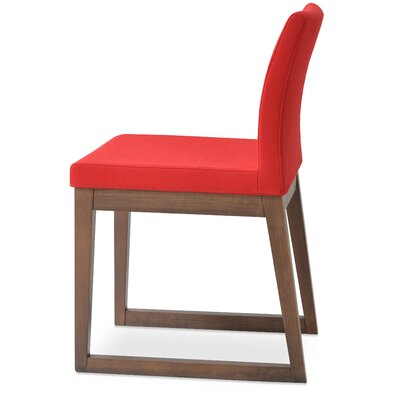 Aria Side Chair Upholstery: Wool - Red