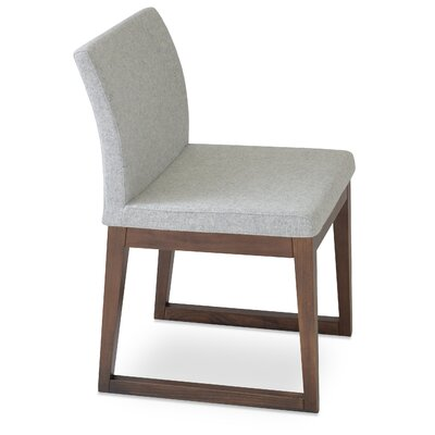 Aria Upholstered Dining Chair Color: Silver