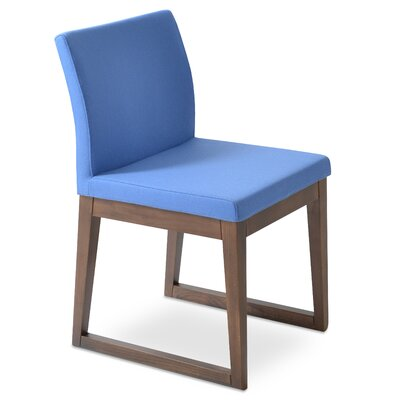Aria Upholstered Dining Chair Color: Sky Blue