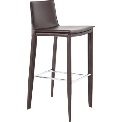 Tiffany 24 Bar Stool Upholstery: Brown