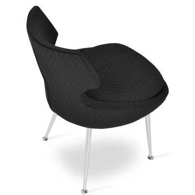Patara Dining Chair Upholstery Color: Black